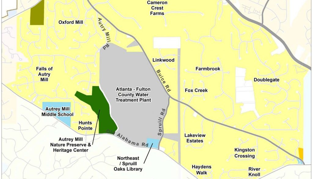 Autrey Mill: Current Land Use Map