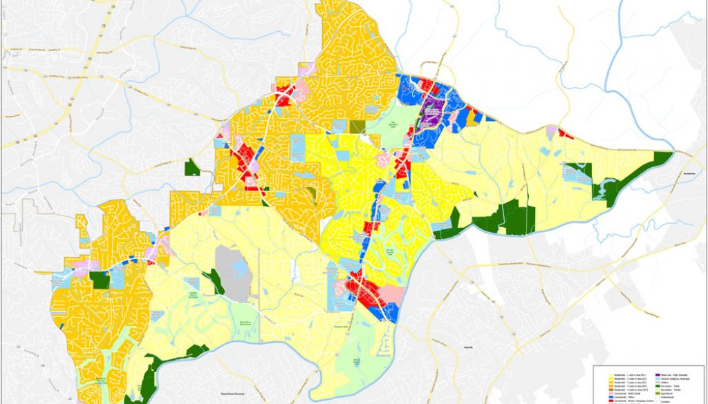 Johns Creek Future Land Use Map