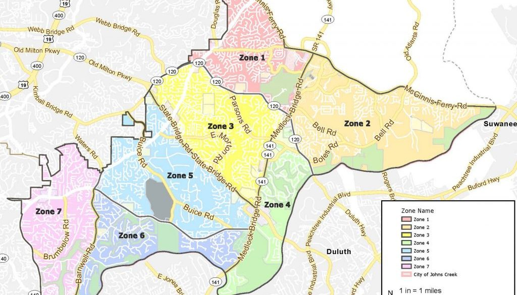 Johns Creek Police Beats Map