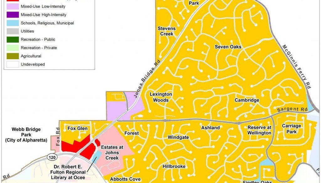 Johns Creek North: Future Land Use Map