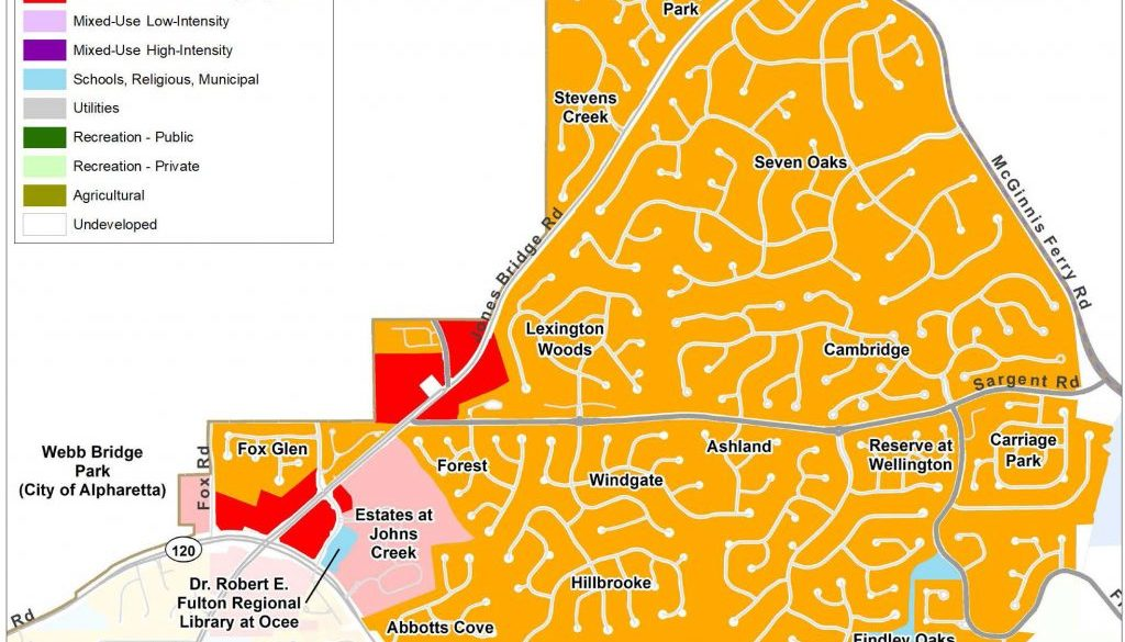 Johns Creek North: Current Land Use Map
